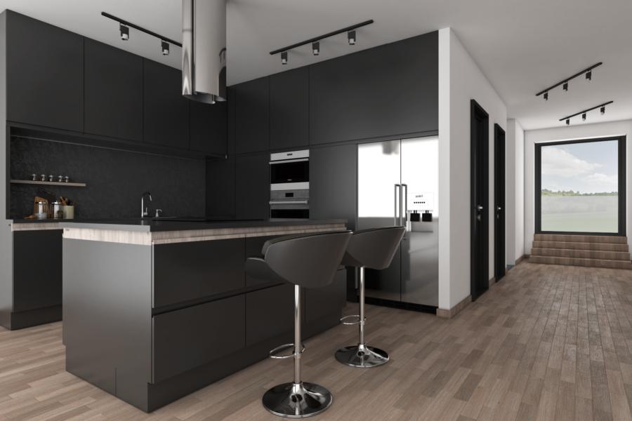 PREDANÝ – Vo výstavbe: 4 izb. RD = 200 m2, 500 m2 pozemok, 10 min. od BB