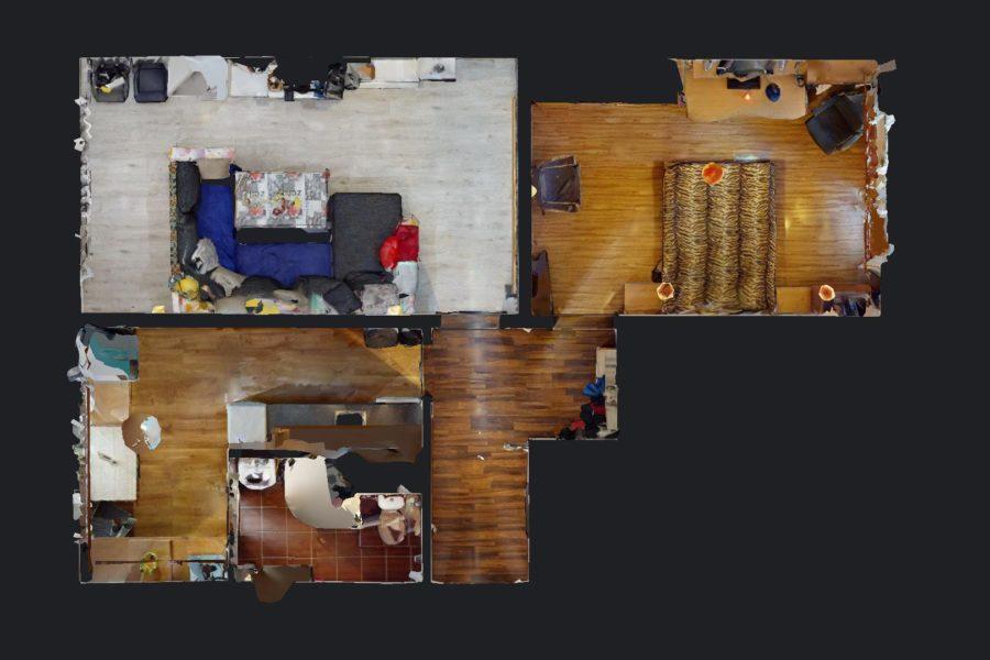 PREDANÝ – Predaj zrekonštruovaného 2ib na Fončorde (64 m2), 3D obhliadka a 2D + 3D pôdorys