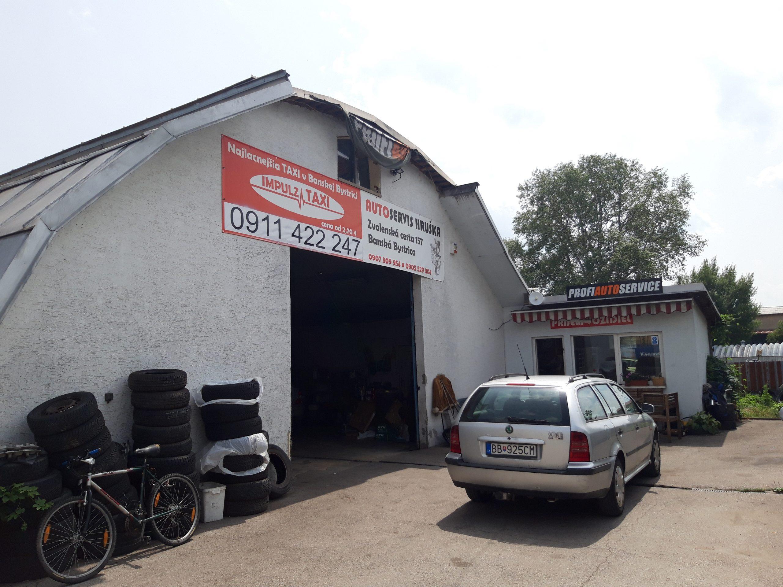 PRENAJATÝ – Prenájom skladu na Zvolenskej ceste (aktuálne sa využíva ako autoservis), B. Bystrica